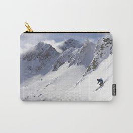 les trois vallees ski resort three valleys alps Carry-All Pouch
