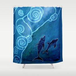 MELUSINA SEA DOLPHINS Shower Curtain