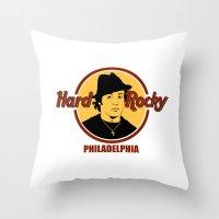 philadelphia Throw Pillows featuring Rocky - Philadelphia by Buby87