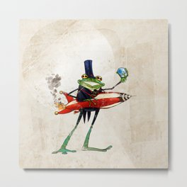 A froggy rocket Metal Print