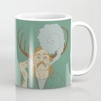 true detective Mugs featuring Rust Cohle - True Detective by Soup & Sausage