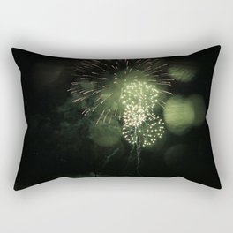 Green Fireworks (part two) Rectangular Pillow