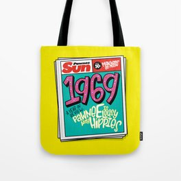 Lousy With Hippies (PAR102) Tote Bag