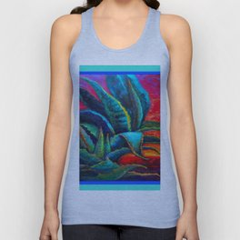 DECORATIVE  BLUE DESERT AGAVE RED DAWN DESIGN Unisex Tank Top