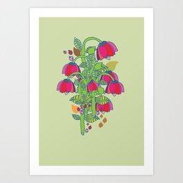 folk floral Art Print