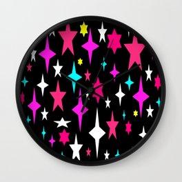 Mid Century Atomic Stars (Colorful) Wall Clock