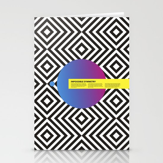 Impossible Symmetry - Circle Stationery Cards