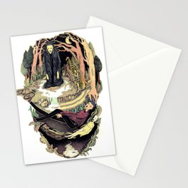 scary way Stationery Cards