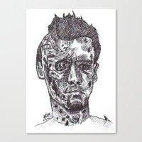 terminator Canvas Prints featuring Terminator by Americo Artspace