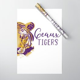 Geaux Tigers Wrapping Paper