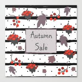 Autumn Sale. Advertising Card Canvas Print