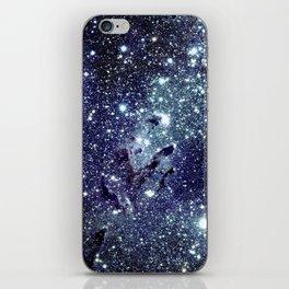 The Eagle Nebula / Pillars of Creation Midnight Indigo Teal Blue iPhone Skin