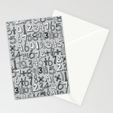 math doodle silver Stationery Cards