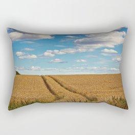 In Golden Fields Rectangular Pillow