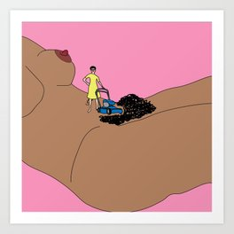 Get off my lawn! Art Print
