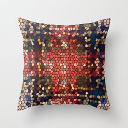 follow the blue road Throw Pillow