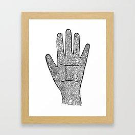 Gemini Hand / Hamsa Framed Art Print