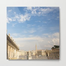 St. Peter's Square In Vatican Metal Print