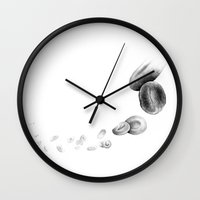blood Wall Clocks featuring Blood by Andreas Derebucha