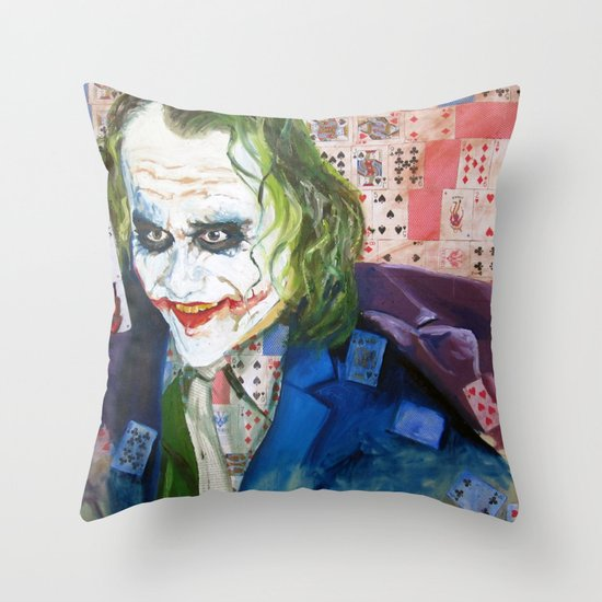 Jokes on You (JOKER) Throw Pillow