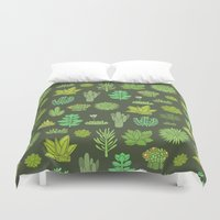 succulents Duvet Covers featuring Succulents by Anna Alekseeva kostolom3000