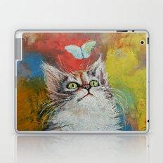 Kitten and Butterfly Laptop & iPad Skin