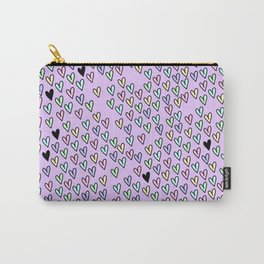 Tiny Pastel Hearts Carry-All Pouch