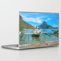 philippines Laptop & iPad Skins featuring Palawan Beach Philippines by Clive Eariss