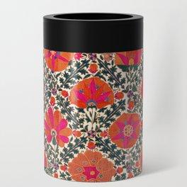 Kermina Suzani Uzbekistan Colorful Embroidery Print Can Cooler