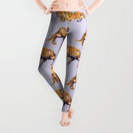 lilac tiger pattern Leggings