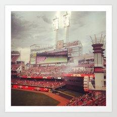 Cincinnati Reds Art Print