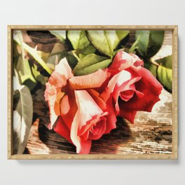 Timeless Tropicana Roses Serving Tray