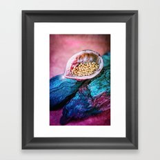 IN A NUTSHELL Framed Art Print