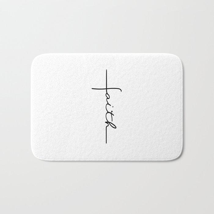 Faith Cross Bath Mat