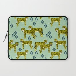 Cheetah safari nursery kids animal nature pattern print gifts Laptop Sleeve