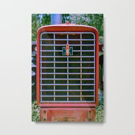 International Farmall 656 Grill Red Tractor Front Metal Print