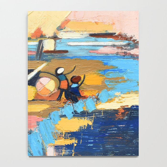 West End Blues Abstract Expressionism Painting Notebook