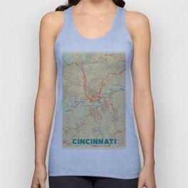 Cincinnati Map Retro Unisex Tank Top