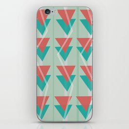 Triangles and lines iPhone Skin