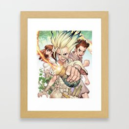 Dr Stone Poster Framed Art Print