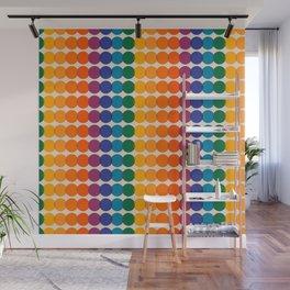 Rainbow Overprint Wall Mural