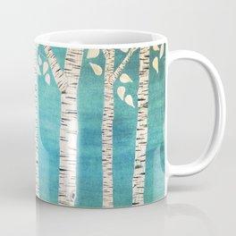 Turquoise birch forest Coffee Mug