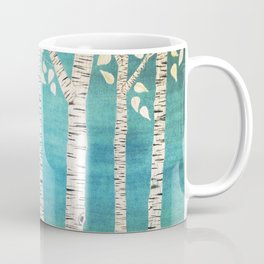 Turquoise birch forest Coffee Mug
