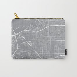 Pomona Map, California USA - Pewter Carry-All Pouch