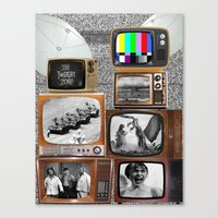 tv Canvas Prints featuring Television by Logan Amick