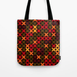 An abstract geometric pattern . Rustic . Tote Bag