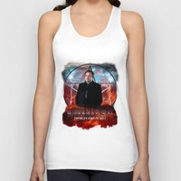 crowley Tank Tops featuring Supernatural Crowley King of Hell S6 by Jamie Fontaine