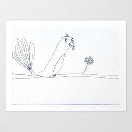 Oiseau Art Print