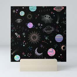 Intergalactic Pastel Holographic Celestial Mini Art Print