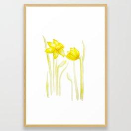 Golden Daffodils Framed Art Print